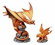 Ebros Phoenix Fire Element Dragon Baby Wyrmling And Mother Statue Anne Stokes