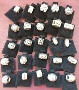 Sterling Silver Charms For Bead Style Bracelets, New W/o Tags, Bulk Lot