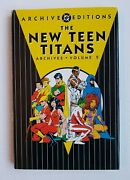 New Dc Archives Teen Titans Vol 2 Signed By Marv Wolfman Hc