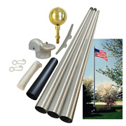 Global Flags Unlimited 204389 Commercial Grade Tapered Sectional Flagpole 20and039