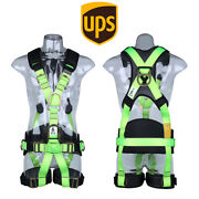 Fall Arrest Safety Harness Construction Roofing Work At Height Protection Green