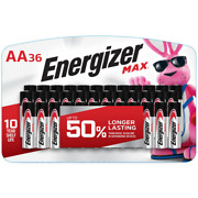Max Aa Batteries 36-pack Double A Alkaline Batteries