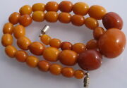 Vintage Baltic Amber Beads 24,5 Gr Butterscotch Genuine Amber Prayer Rosary Bead