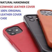 Handmade Genuine Leather Case For Iphone 12 11 Pro Max Mini Luxury Cover Case Us