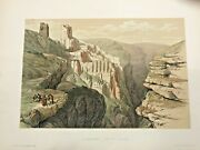Bethleem Convent Of St Saba 1857 David Roberts Antique Lithographic View