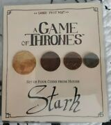 A Game Of Thrones Set Of Four Coins From House Stark