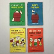Peanuts Books 1st Edition You Can Do It , You Can Win Charlie Brown Set Of 4