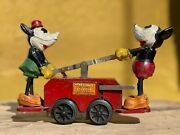 Antique Wind Up Lionel Mickey Mouse Hand Car