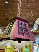 Hand Hammered Arts And Crafts Copper Pendant Light
