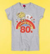 Official Womenand039s Rainbow Brite Made In The 80s Fitted T-shirt