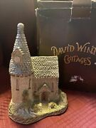 David Winter Cottages 7 Tall The Chapel Comes In Original Box