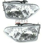 New Set Of 2 Head Lamp Assembly Fits 2001-02 Nissan Quest B60602z400 B60102z400
