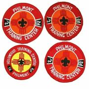 Four Philmont Scout Reservation Training Center Patches Separate Issues Bsa