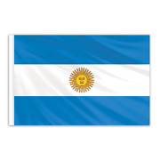 Global Flags Unlimited 201132 Argentina Indoor Nylon Flag With Seal 3'x5'