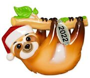 Sloth Ornament - Sloth Christmas Home Ornaments 2021 - Easy To Personalize