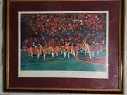 Vintage Usc The Pride Of Sc Lithograph Signed By Artist And John Rohn 1993