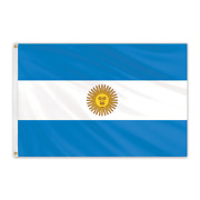 Global Flags Unlimited 201129 Argentina Outdoor Nylon Flag With Seal 4'x6'