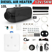 Air Diesel Parking Fuel Heater 12v 5kw Lcd Switch 10l Tank For Trucks Boats Cars