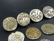 Coin Lot Antique Old Ancient Silver Hindu Shahi Dynasty Coins Authentic 750 Ad
