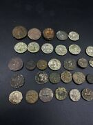 Coin Lot Old Antique Ancient Indo Greek And Hindu Shahi Silver Bronze Coins