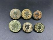 Coin Lot Of Total 6 Bronze Antique Coins From Ancient Roma