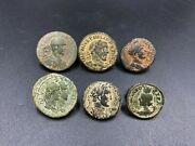 Coin Lot Of Total 6 Bronze Antique Coins From Ancient Roma Roman Antiquity
