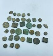 Coins Rare Lot Of Antique Old Ancient Indo Greek Kushan Bronze Coins
