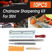 10 Pcs Chainsaw Sharpening File Stihl Filing Kit Chain Sharpen Saw Files Tool