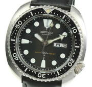 Seiko 3rd Diver 150m 6306-7001 Day Date Black Dial Automatic Men's Watch Used