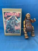 Old Vintage Tin Wind Up Godzilla Monster Figure Toy With Box From Japan 1990