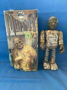 Old Vintage Tin Wind Up Mummy Figure Toy With Box From Japan 1980