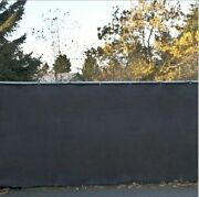 6and039 Privacy Fence Screen Black Windscreen Shade Cover Fabric Mesh Garden Tarp New