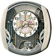 [mickey&minnie Mousewall Clock] Seiko Disney 6 Songs Melody Rotating Ornament