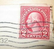 2-cent Red George Washington U. S. Postage Stamp - Issued 1928
