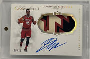 Donovan Mitchell 2019 Flawless Louisville Collegiate Signatures Patch Auto /10