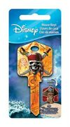 Hillman 87639 Brass Skull And Swords Style Single Sided Blank Key Pack Of 5