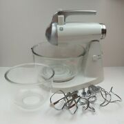 Vintage Ge Stand Mixer 168949 All Attachments 2 Bowls Clear Works