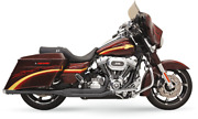 Road Rage 2-into-1 Long Megaphone Exhaust System - Harley Fl Touring 2010-2017