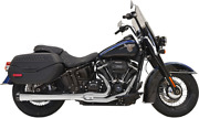 Road Rage 2-1 Exhaust - Chrome Harley Softail Deluxe/heritage/sport Glide 18-20