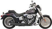 Road Rage 2-into-1 Short Megaphone Exhaust System - Harley Softail 1986-2017