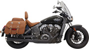 Road Rage 2-into-1 Exhaust System - Black Indian Scout Sixty Bobber 2015-2019