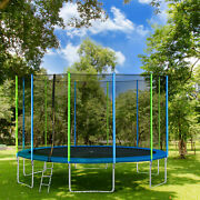 16ft Premium Trampoline With Enclosure Safety Nets Adults/kid Outdoor Trampoline