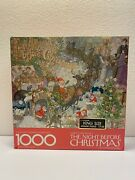 New Springbok Night Before Christmas Clement Moore 1975 Puzzle Complete Hallmark