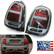 Pair Led Rear Tail Lights Smoke+red Lens For 2014-2018 Mini Cooper F55 F56 F57