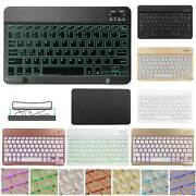 10 Universal Mini Color Backlight Wireless Keyboard For Ipad 2 3 4 Air Air 2
