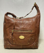 Vintage Bally1851 Brown Leather Shoulder Bag With Log Ex Condition