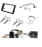 Double Din Facia Fascia Iso Steering Controls Fitting Kit For Audi A4 2002-2006