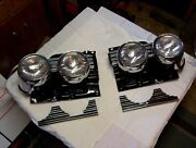 1962 Cadillac Headlight Chrome Set With Grille Extension Parts- Restored