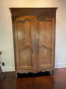 Antique 18th Century French Cherry Armoire Shelves