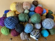Large Lot 6.5 Pounds Cotton Crochet Knitting Wool Yarn Full And Partial Skeins
